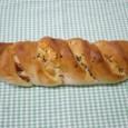 プロセスチーズとベーコンのフランスパン