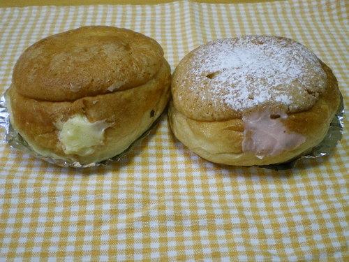 「至高のクリームパン(カスタード/あまおうイチゴ)」